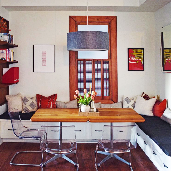 ABOUT.COM    ____ Small Space Living : A Multi-Purpose Cafe Lounge Dining Room