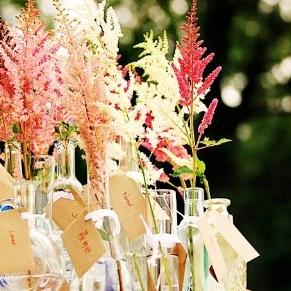 INTIMATE WEDDINGS   ____ Unique Wedding Ceremony Ideas : DIY Astilbe Bouquet