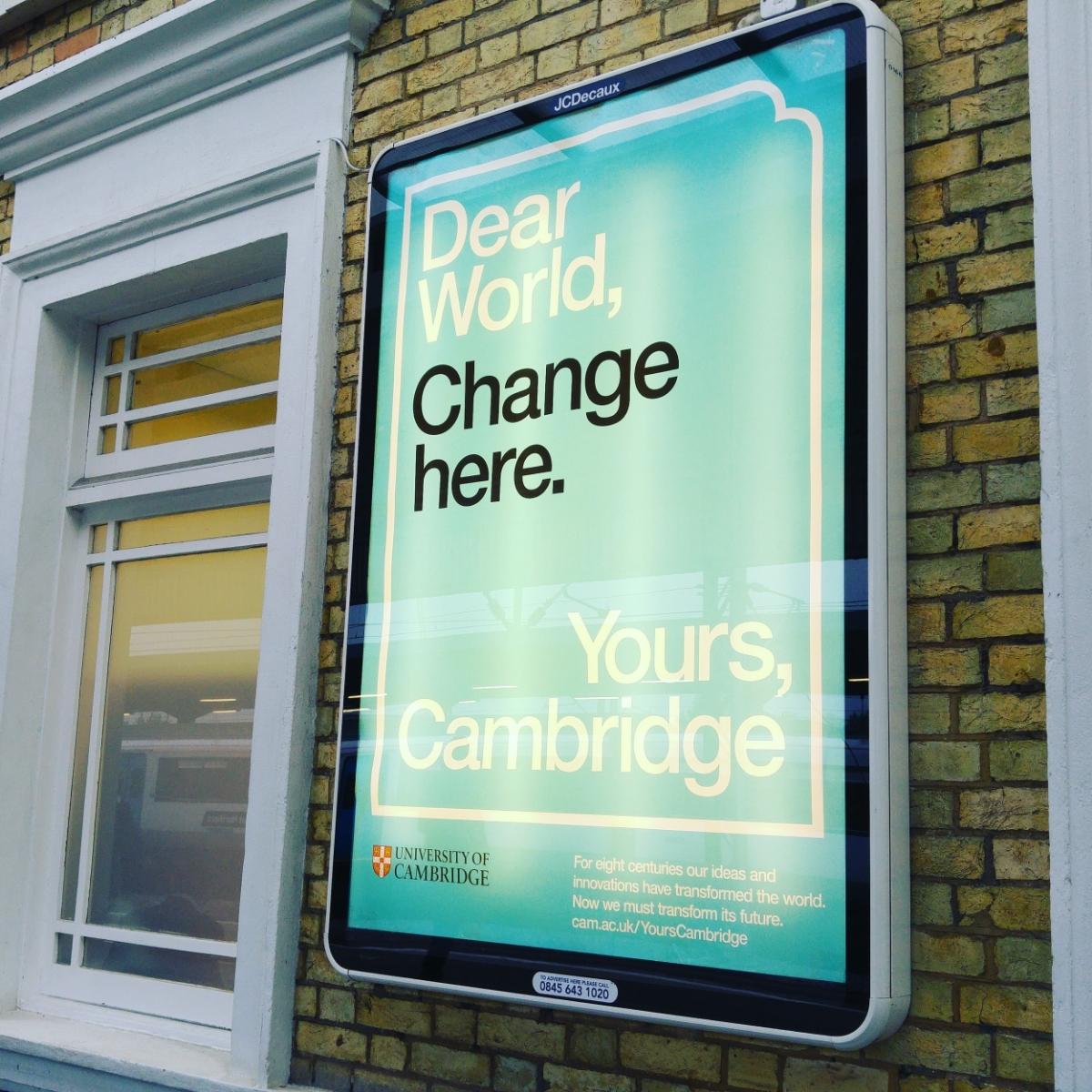 Dear Cambridge, change here