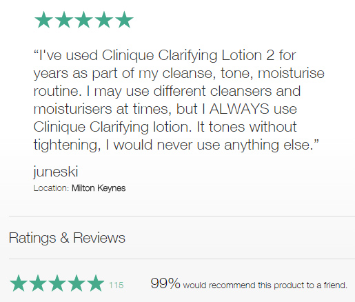 Clinique customer review