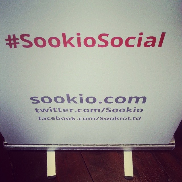 Our #SookioSocial banner, hashtag clearly displayed!