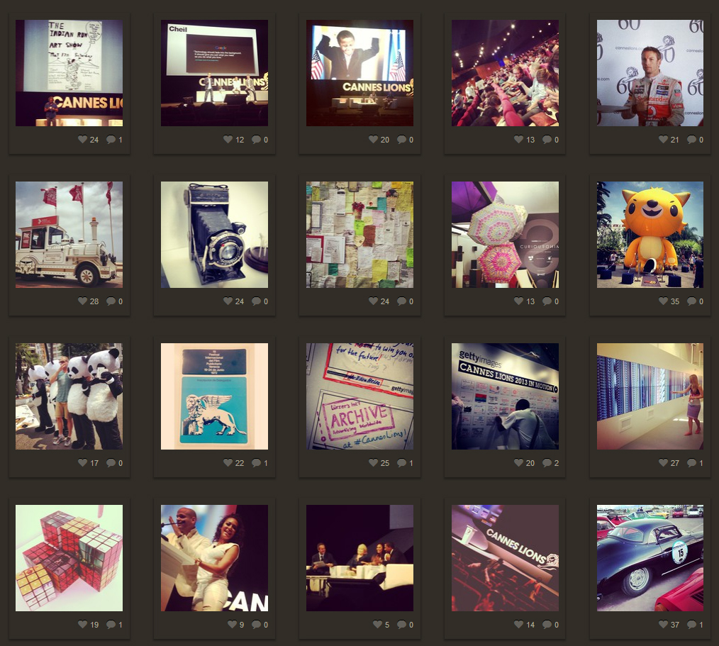 Cannes Lions 2013 on Instagram