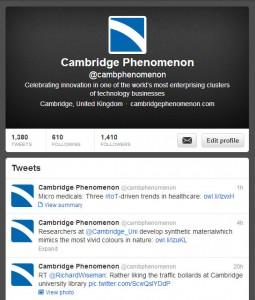 Cambridge Phenomenon on Twitter