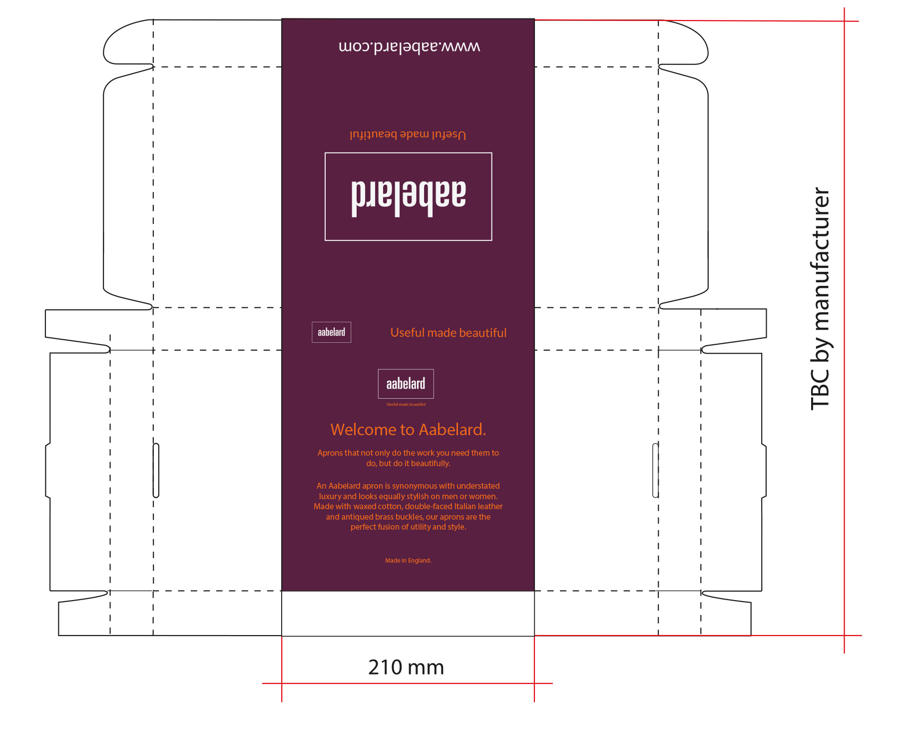 Packaging design for Aabelard