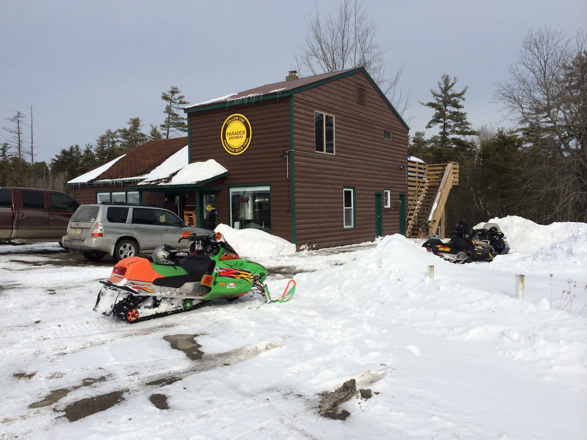 Sledding to the Brewery