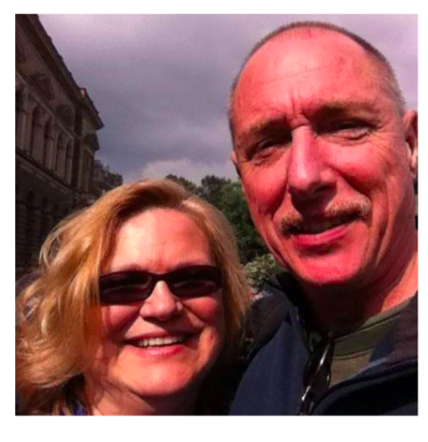 Jorg with his girlfriend Donna Rice Mellan.