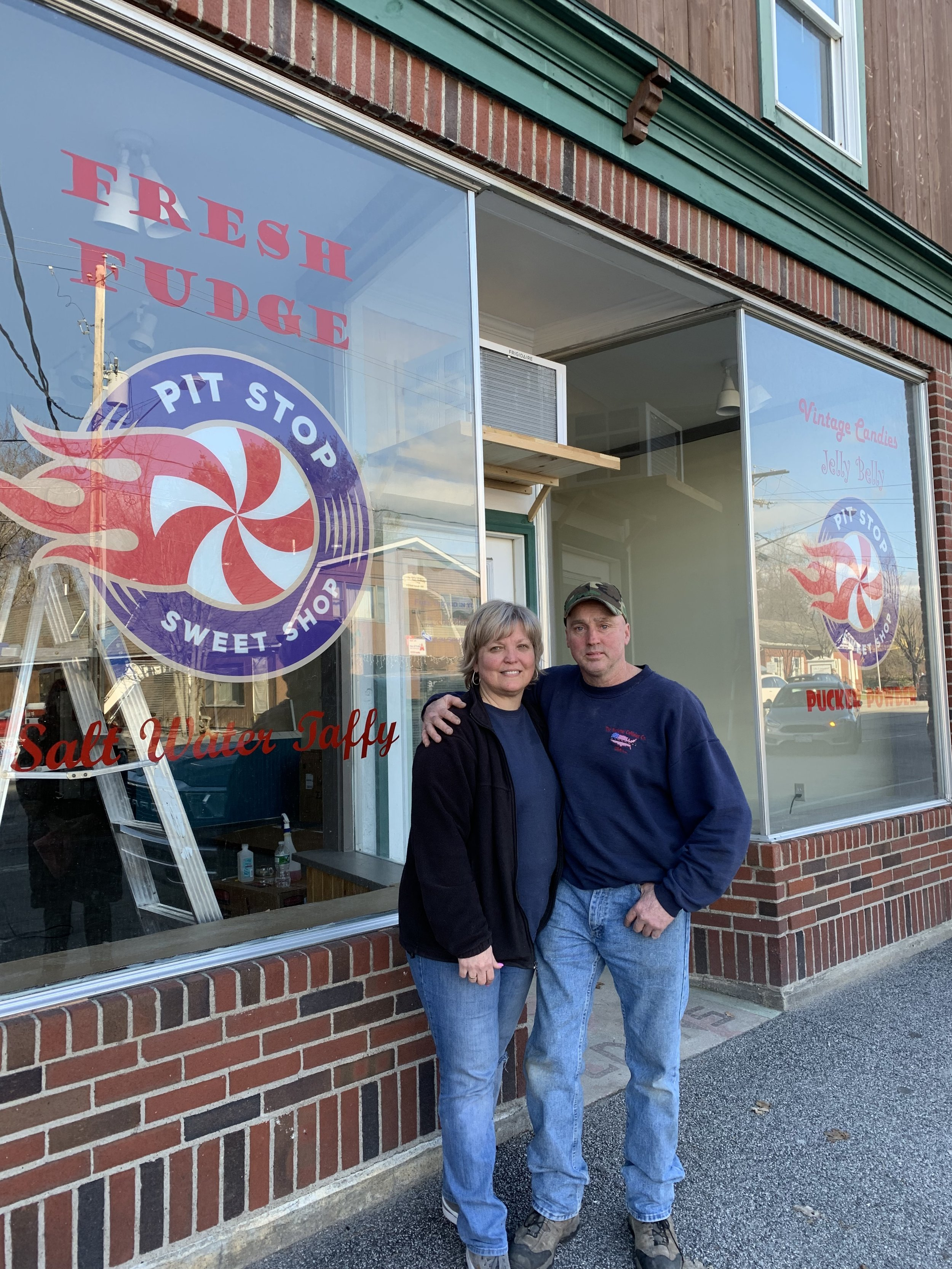 Laura and Buddy Lane are the entrepreneurs behind the new Pit Stop Sweet Shop.