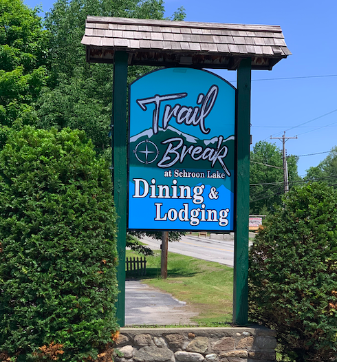 Trail Break at Schroon Lake open for lunch and Dinner