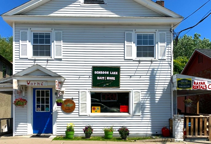 Schroon Lake Bait and More on Main Street opposite The Post Office can hook you up.