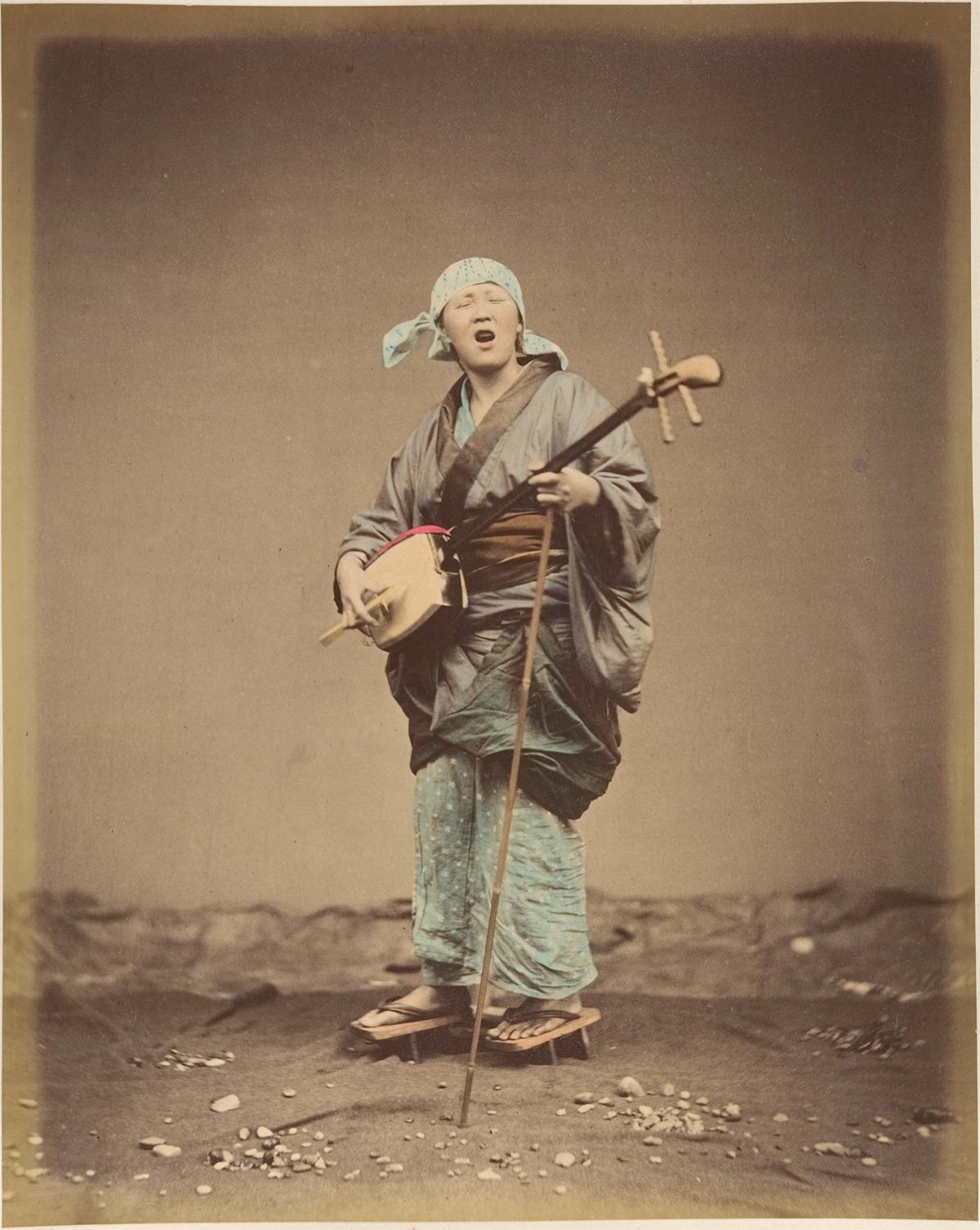 Street Minstrel, Gose / Shinichi Suzuki / 1870s (credit: Metropolitan Museum of Art)