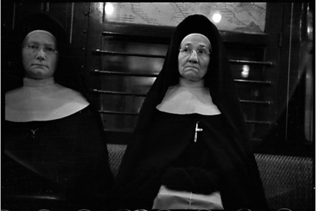 Subway passengers, New York City: Two Nuns / Walker Evans / 1938 (credit: Metropolitan Museum of Art)