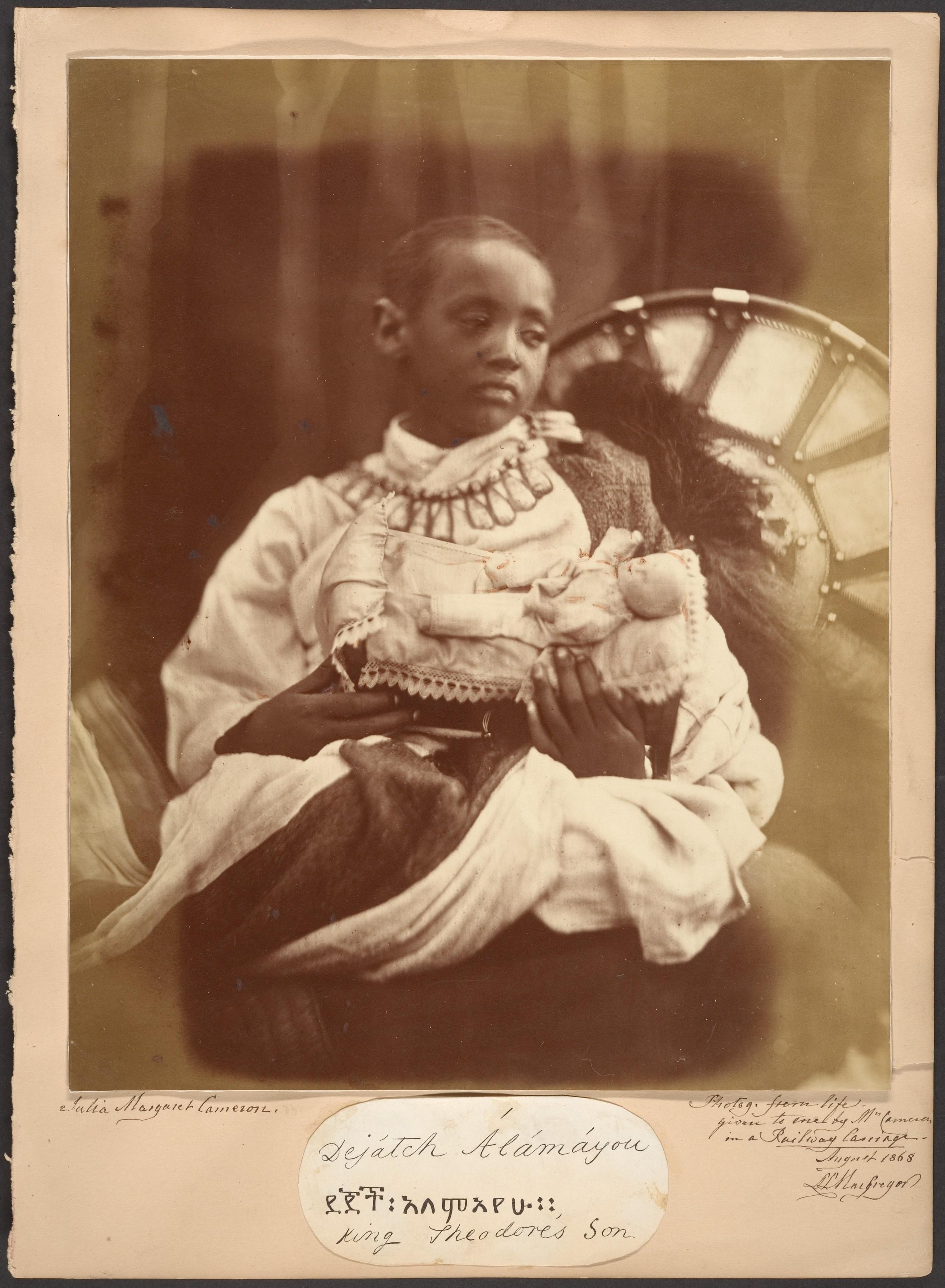 Déjatch Alamyaou, King Theodore's son / Julia Margaret Cameron / 1868 (credit: Metropolitan Museum of Art)