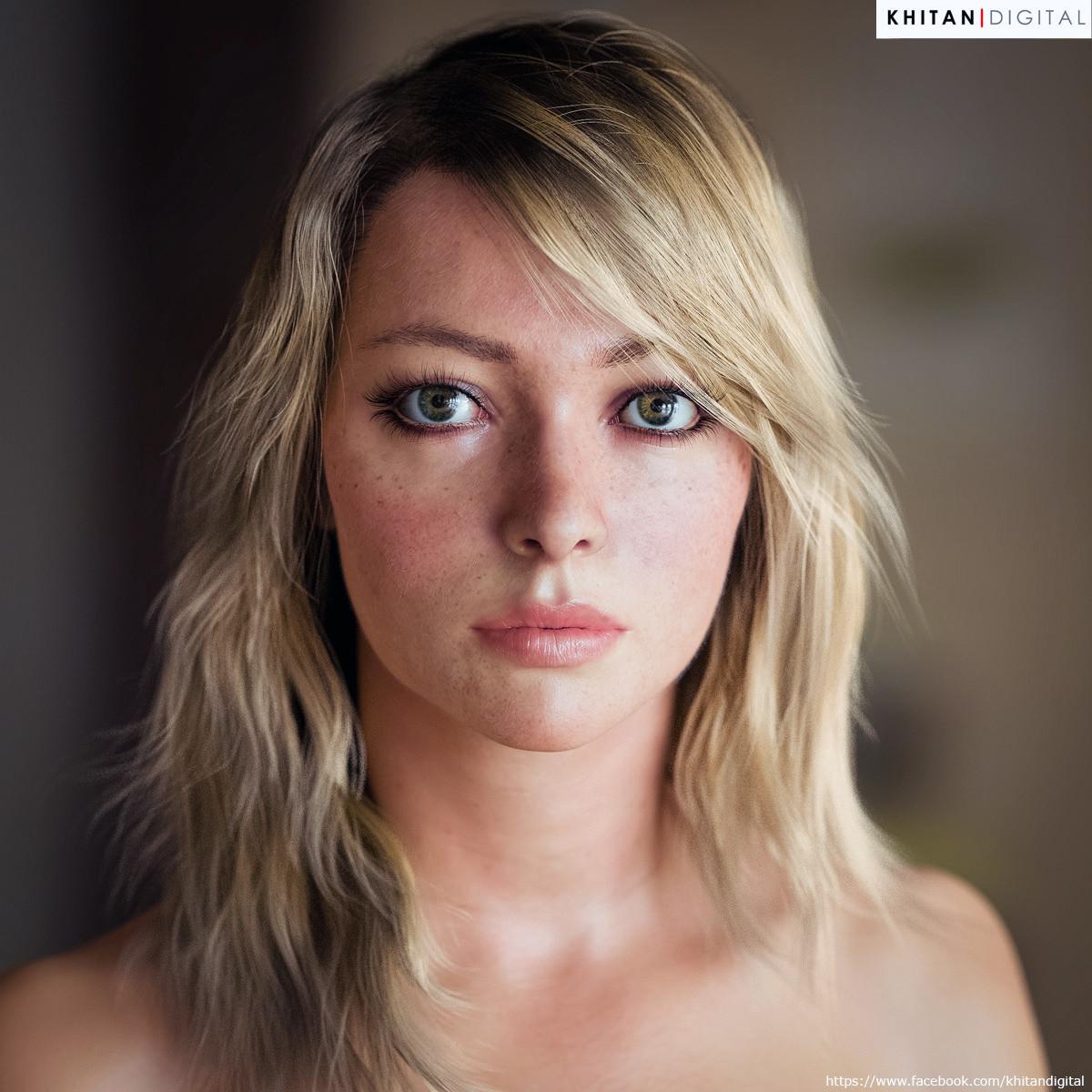 Portrait of a young woman / Khitan