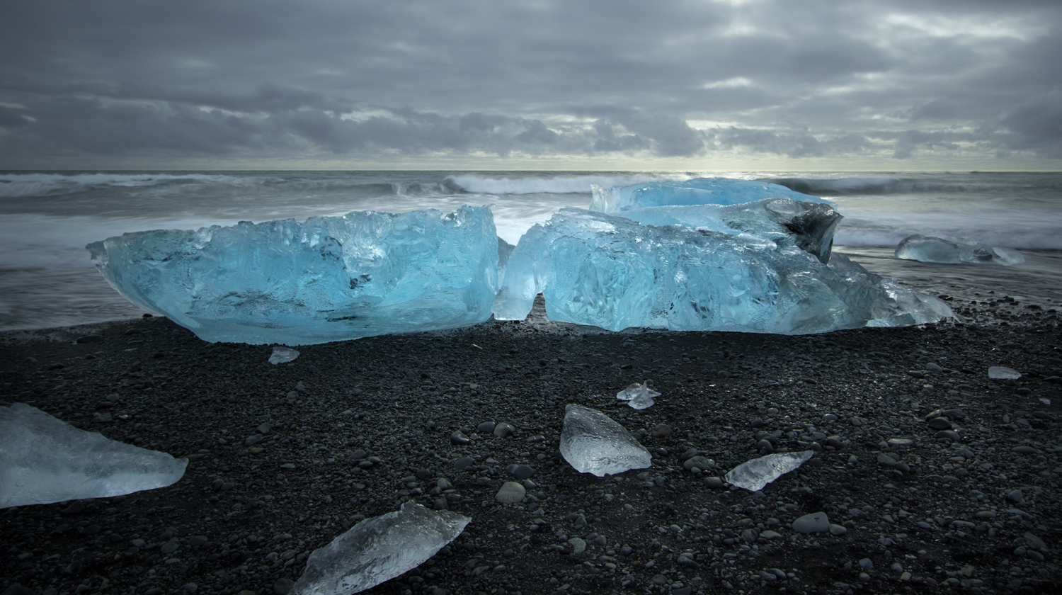 Blue Diamonds of Jökulsárlón  This location has become a cliche for Iceland. But the ice and the black sand draw you in. The fleeting nature of the ice means every day is different, the scene changes often, I could go back again and again.