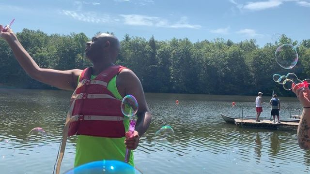 Loving the lake life! . . #lake #lakelife #camping #camplife #volunteer #service #friends #fun #summer #summer2019 #boating #boat #blowingbubbles #newdaythegame #boardgames #candyland #monopoly #clue #fanilyfued