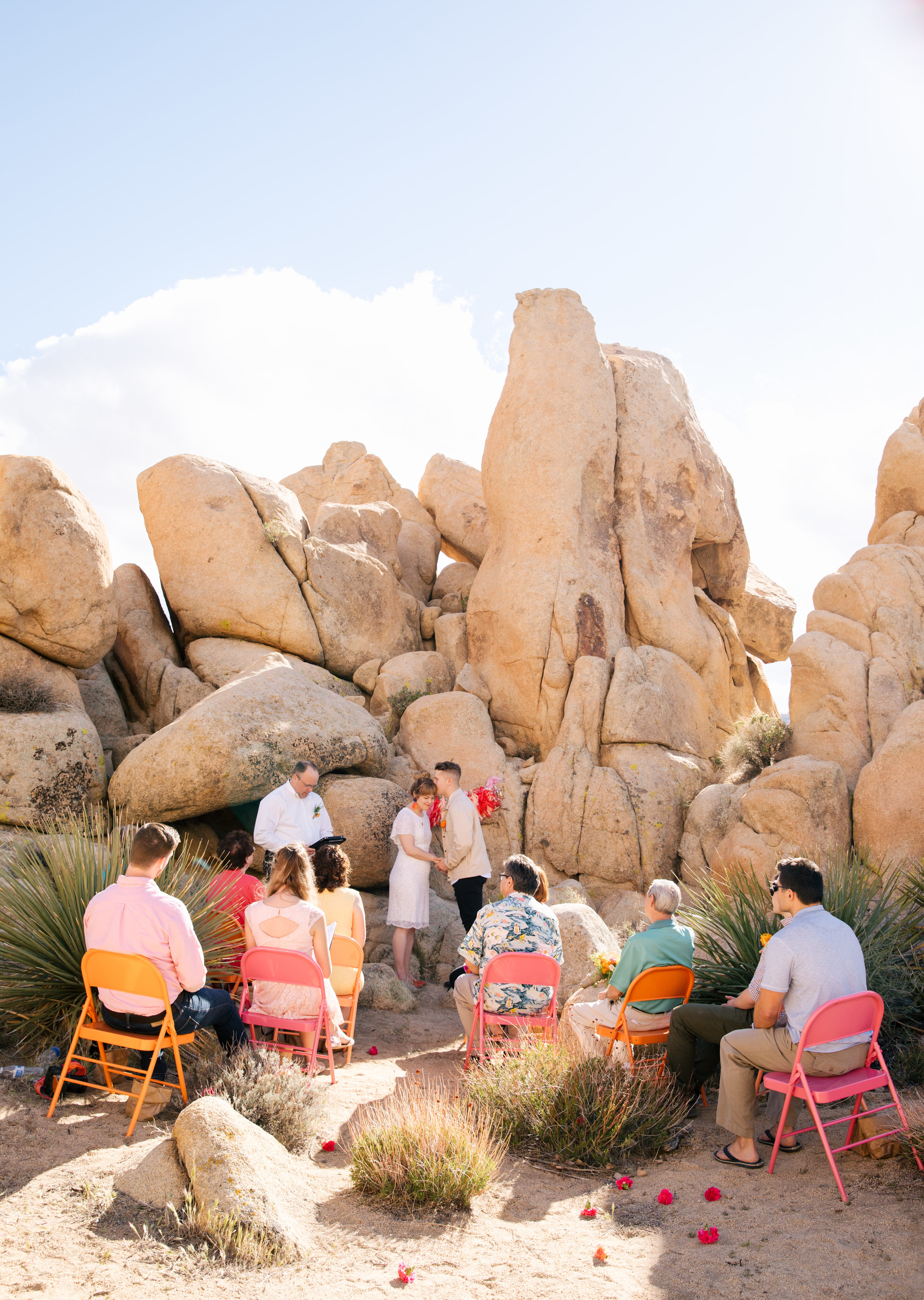 Our 13 person wedding in Joshua Tree. Photo courtesy of Jenn Emerling, our rad wedding photographer!!