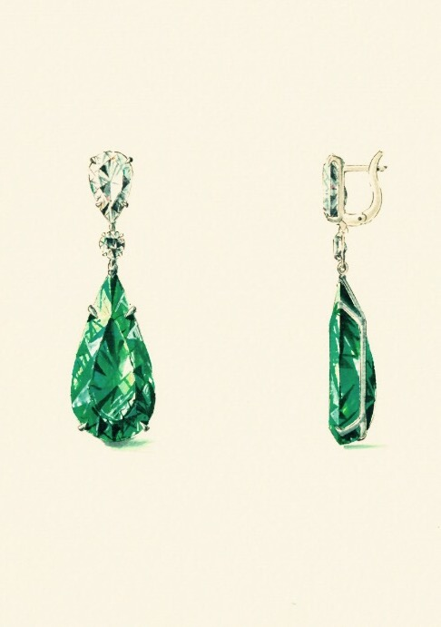 It all started with love of my client for emeralds and this rensering