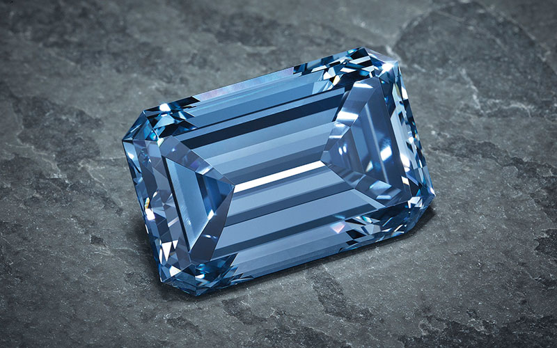The famous Oppenheimer Blue Diamond.