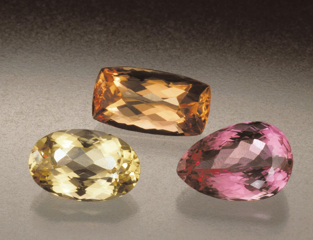 Honey yellow. Fiery orange. Cyclamen pink. Icy blue. In warm or cool tones, topaz is a lustrous and brilliant gem.