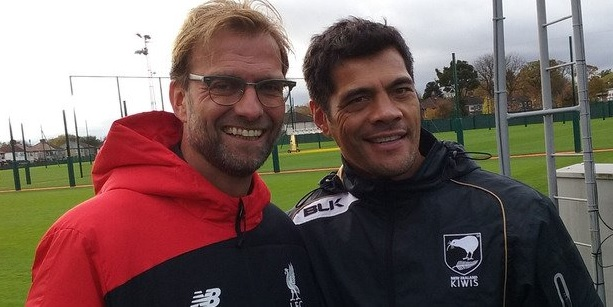 This would have been way less awesome if it was Brendan Rogers meeting Stephen Kearney. Yey for Klopp.