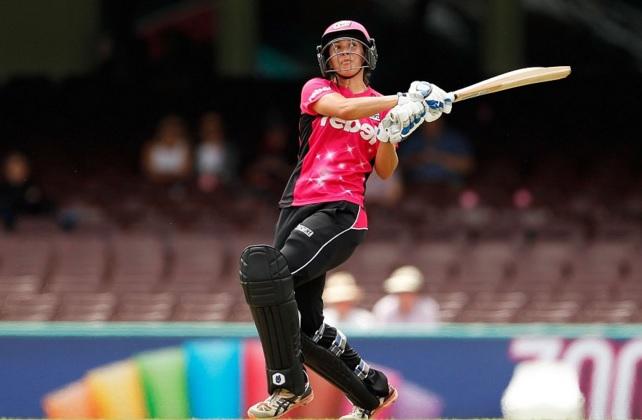 Sara McGlashan, playing with passion, sixes she's smashing, parties she's crashing