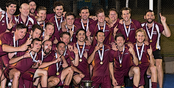 Defending men's AHL champions Queensland, g'day.