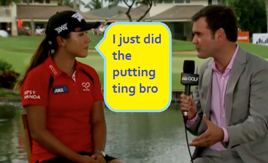 And then I did the get another caddie ting bro.