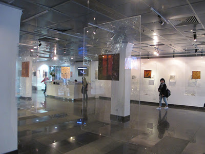 Interior view of exhibition space