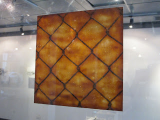 Barrier , lacquer on transparent film, 30x30cm