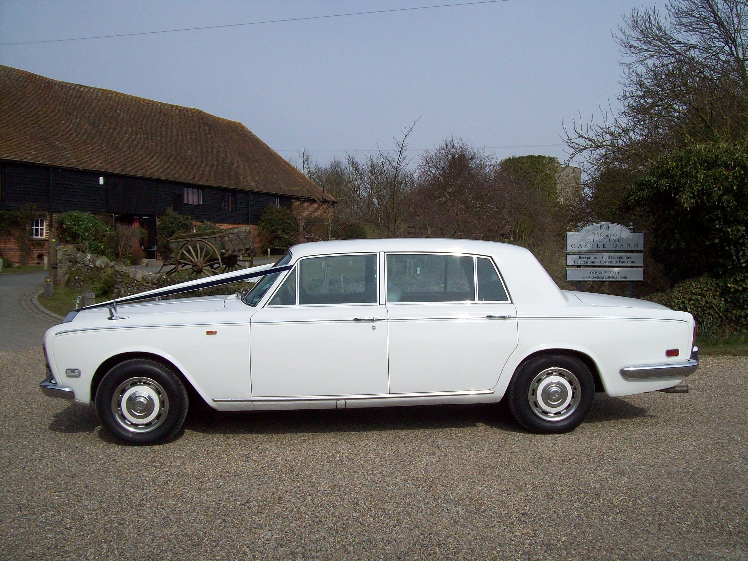 White Rolls Royce Silver Shadow Long wheel base