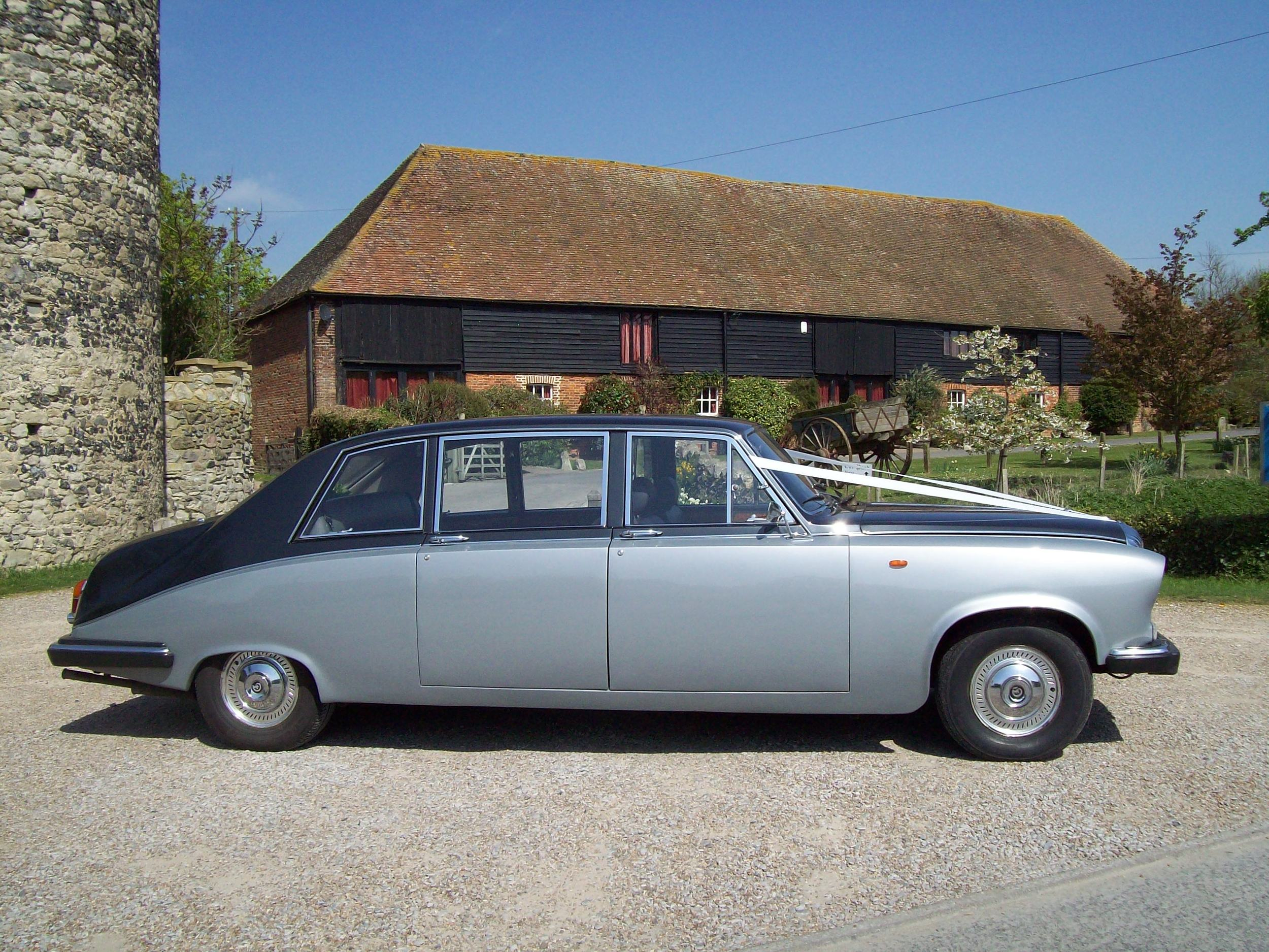 Silver Daimler DS State Limousine 7 seat