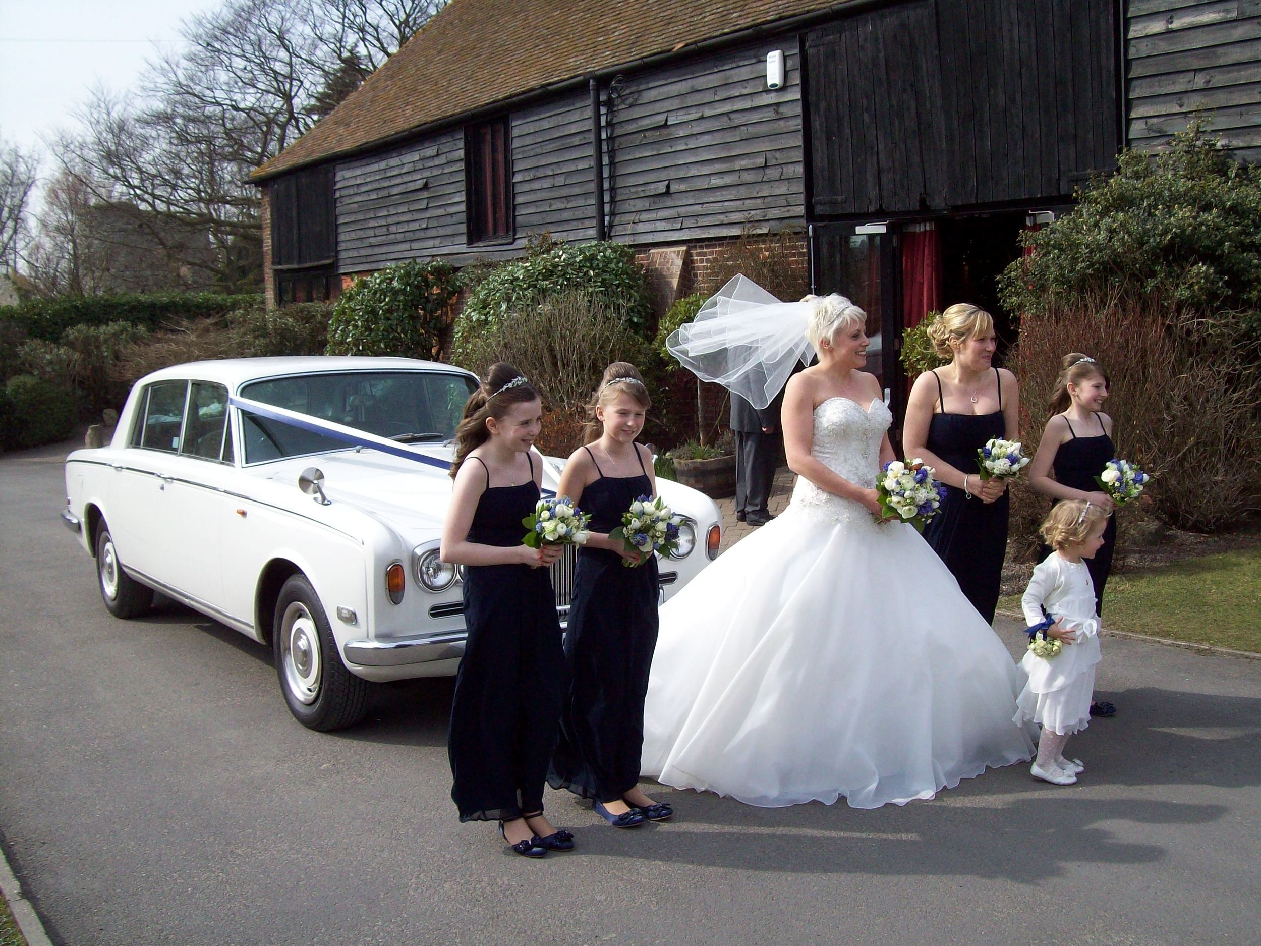 White Rolls Royce Wedding