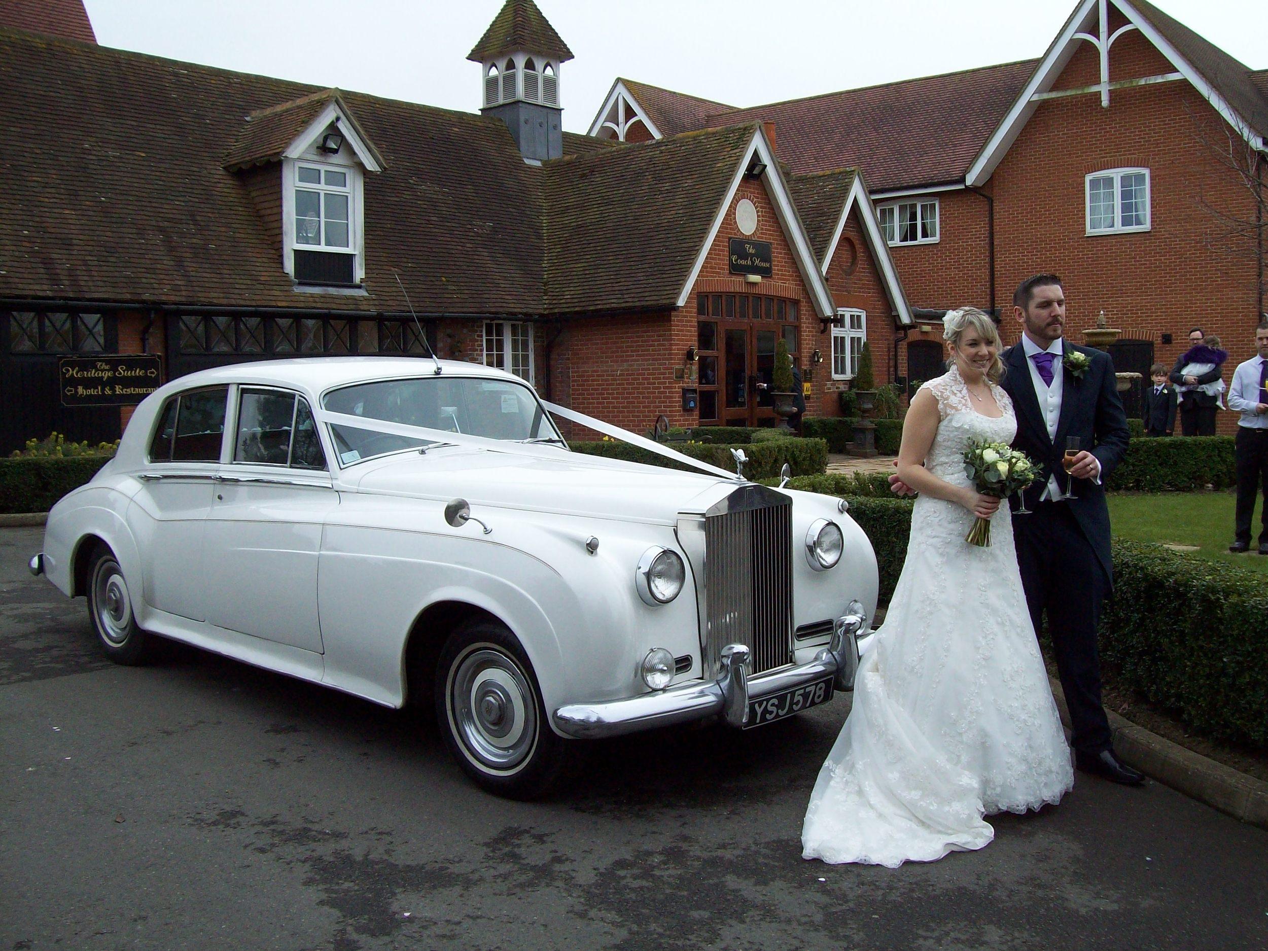 White Rolls Royce Silver Cloud Mk2