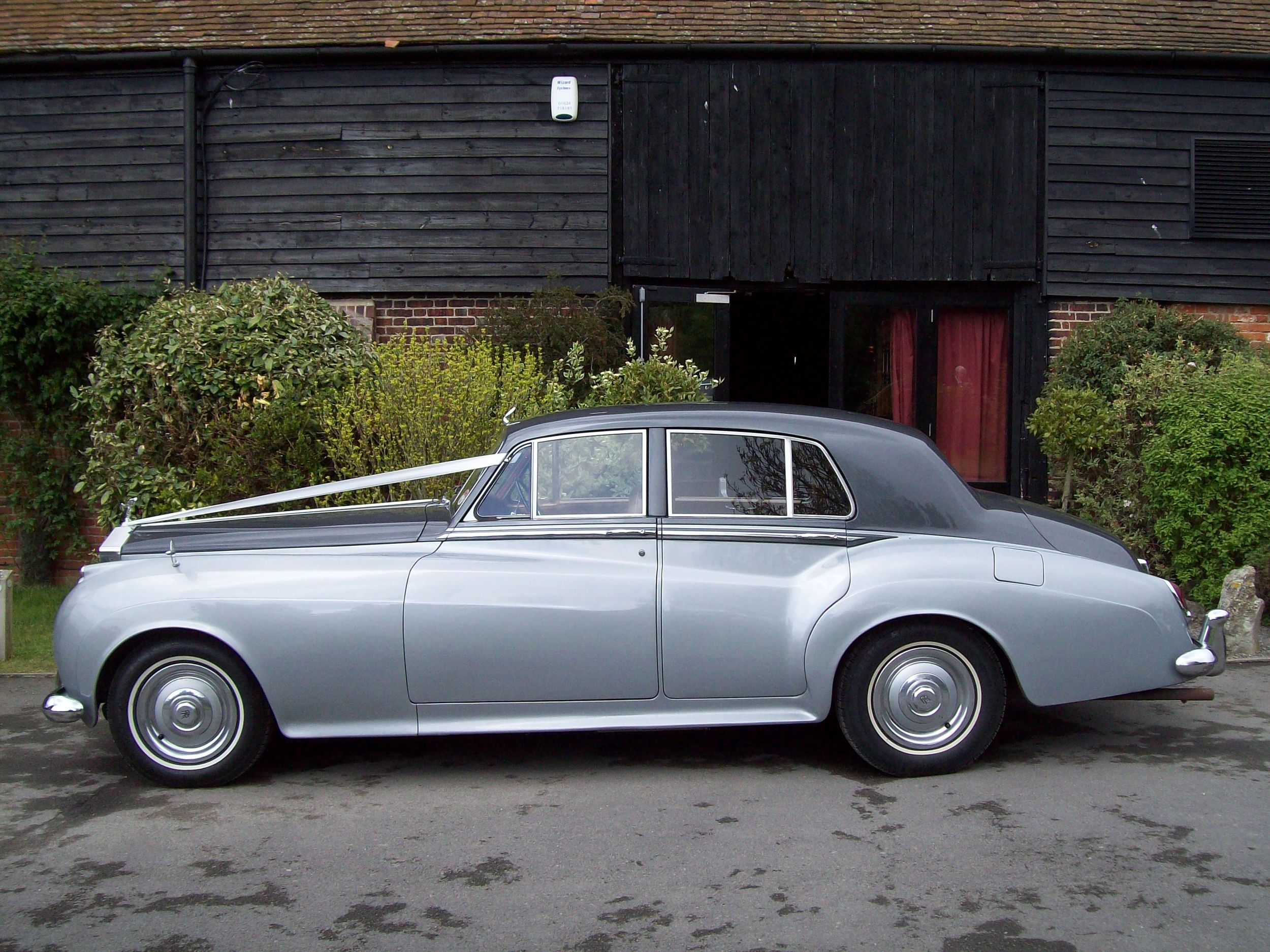The Rolls Royce Silver Cloud Mk1 in the distiguished silver and slate colour scheme.