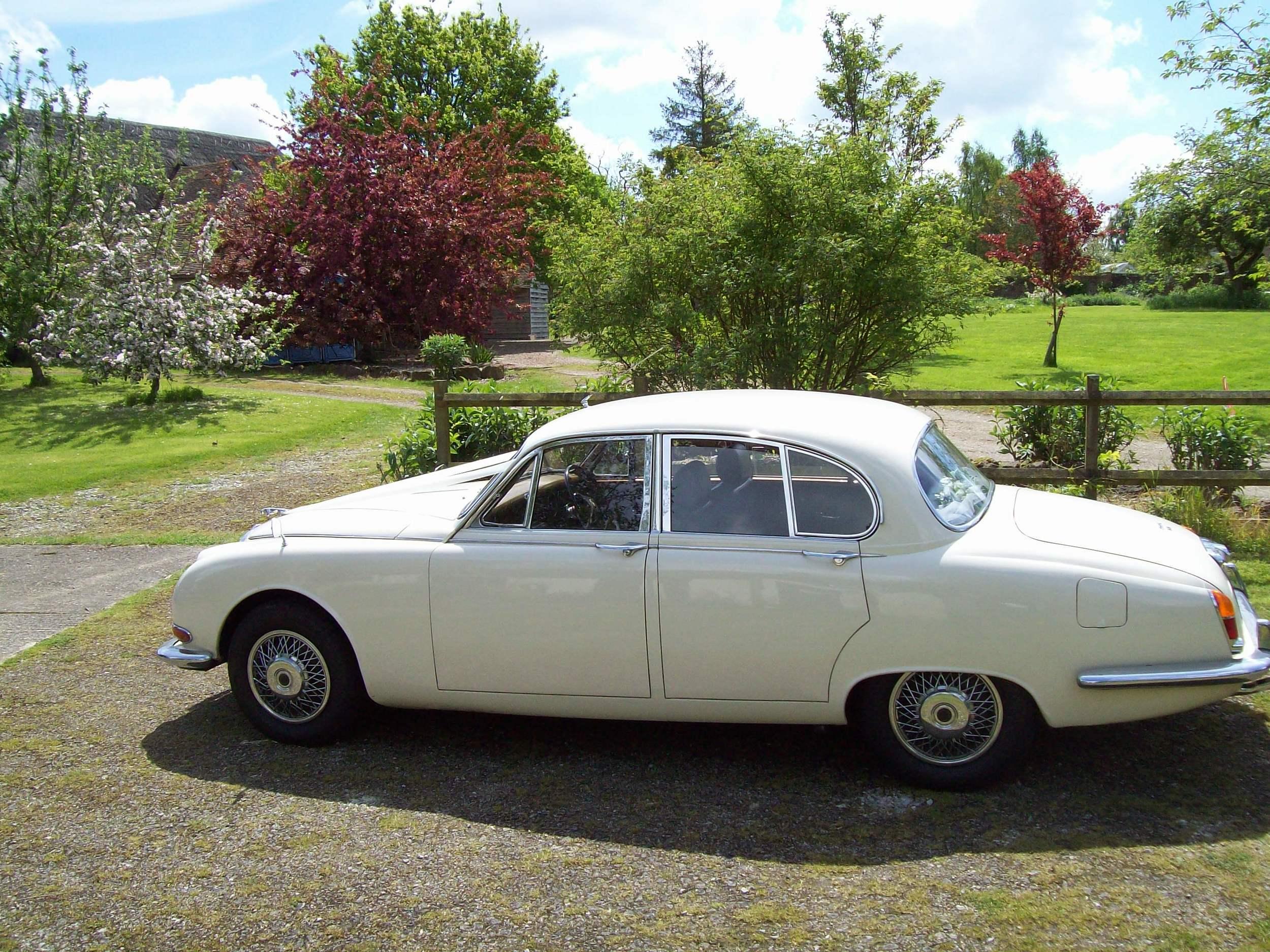White Jaguar 'S' type
