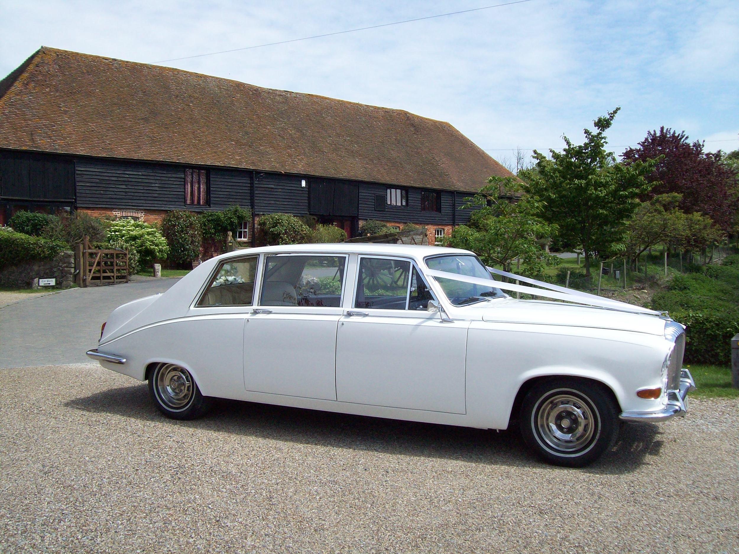 White Daimler 7/8 seat Limousine