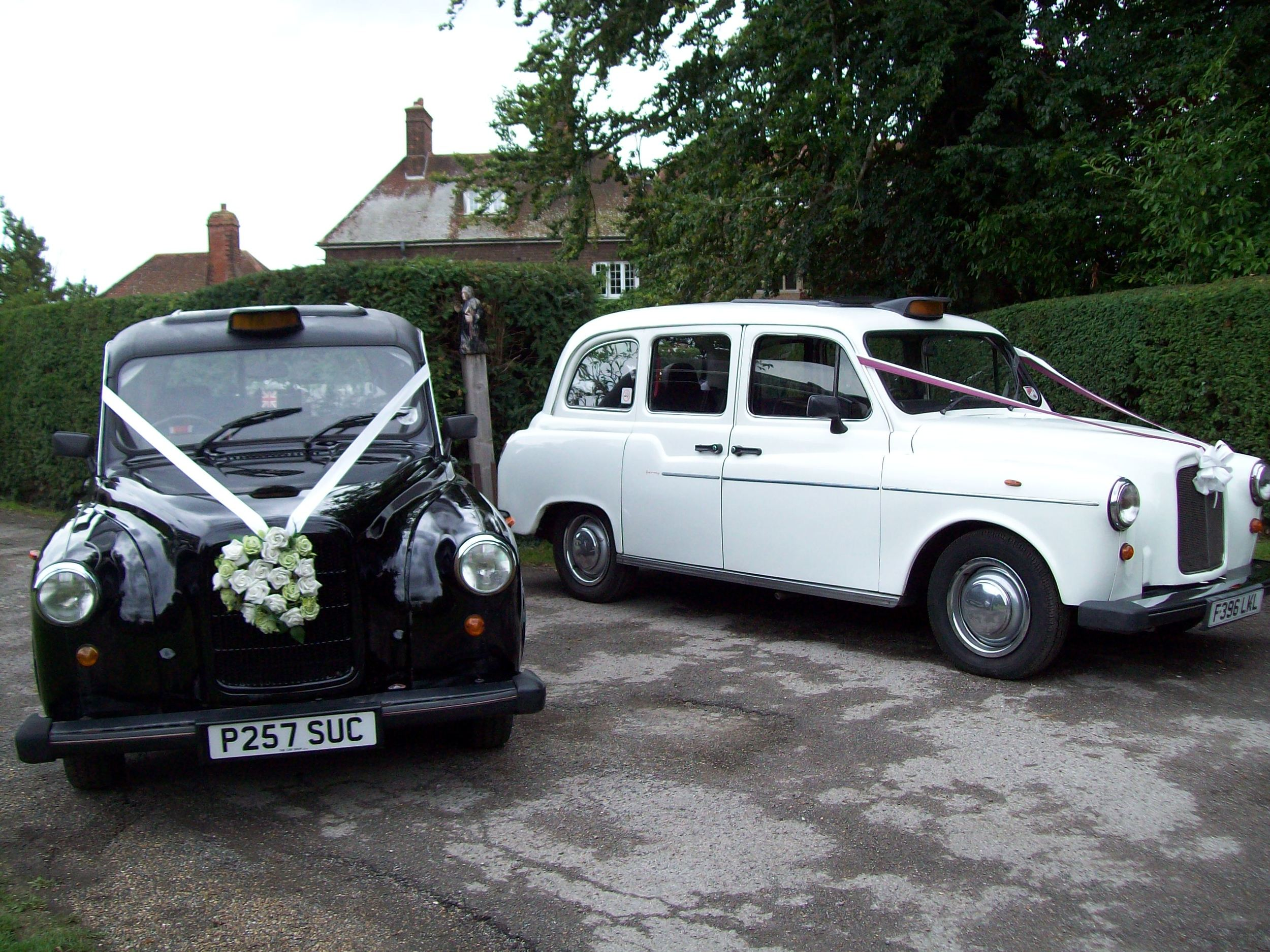 White London Fairway Taxi and black London Fairway Taxi wedding cars available from Kent & Medway Wedding Cars.