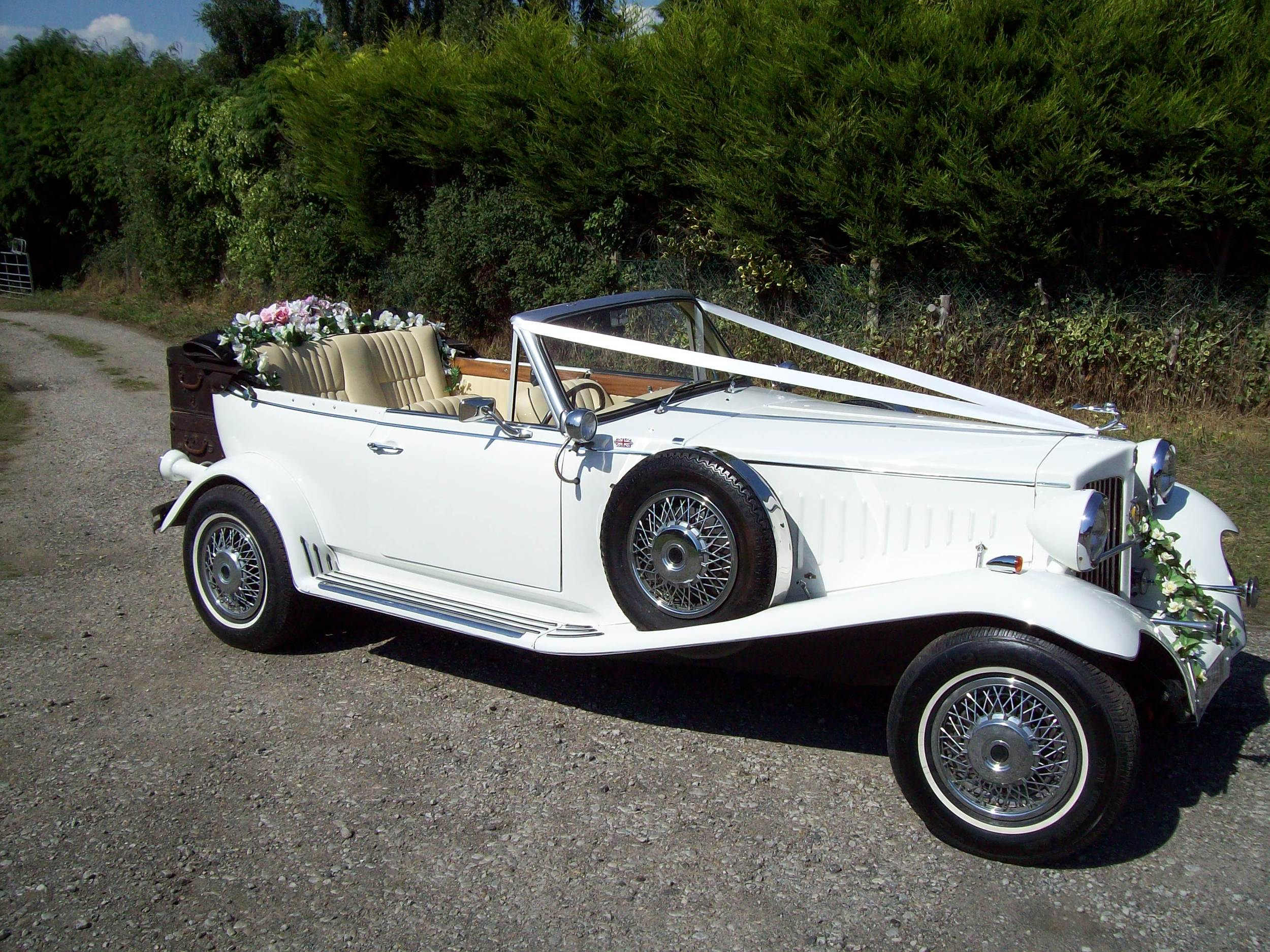 Beauford Vintage Open Tourer for wedding car hire Kent.
