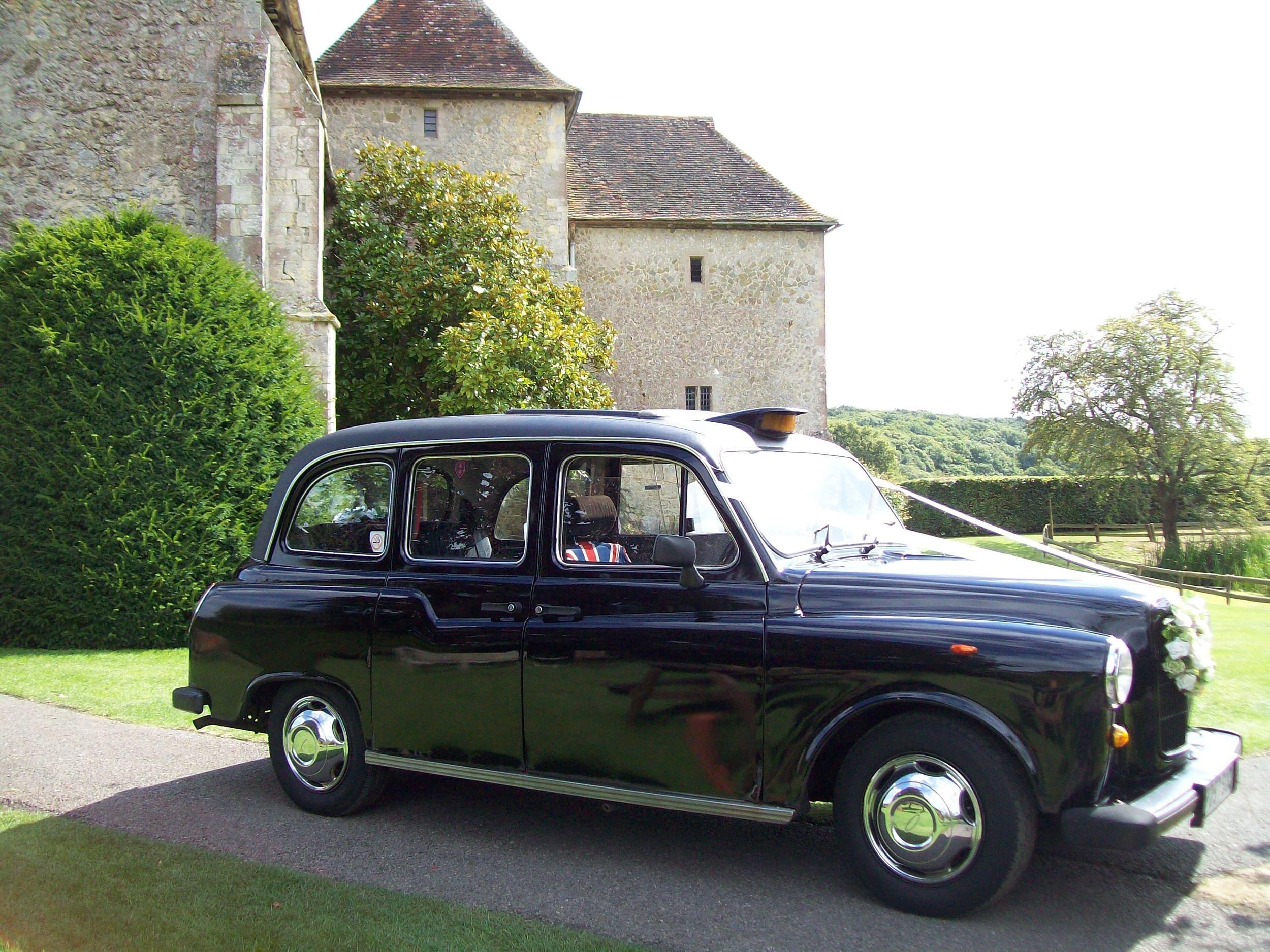 Black London Fairway Wedding Taxi