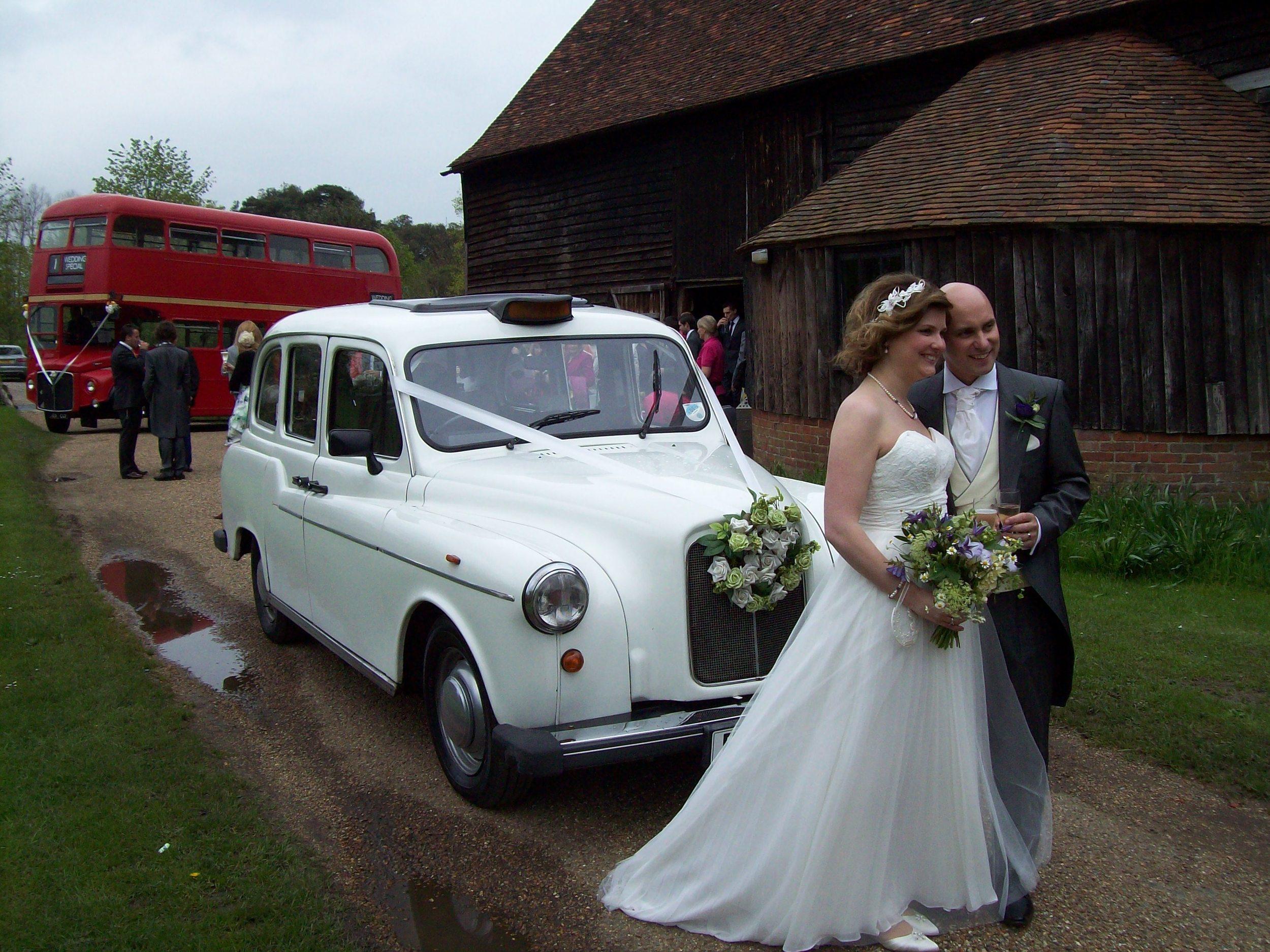 White London Wedding Taxi