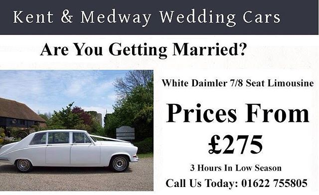 Don't forget your bridesmaids transport. #weddingcarskent #weddingcarhire #kentbride #kentwedding #kentishwedding