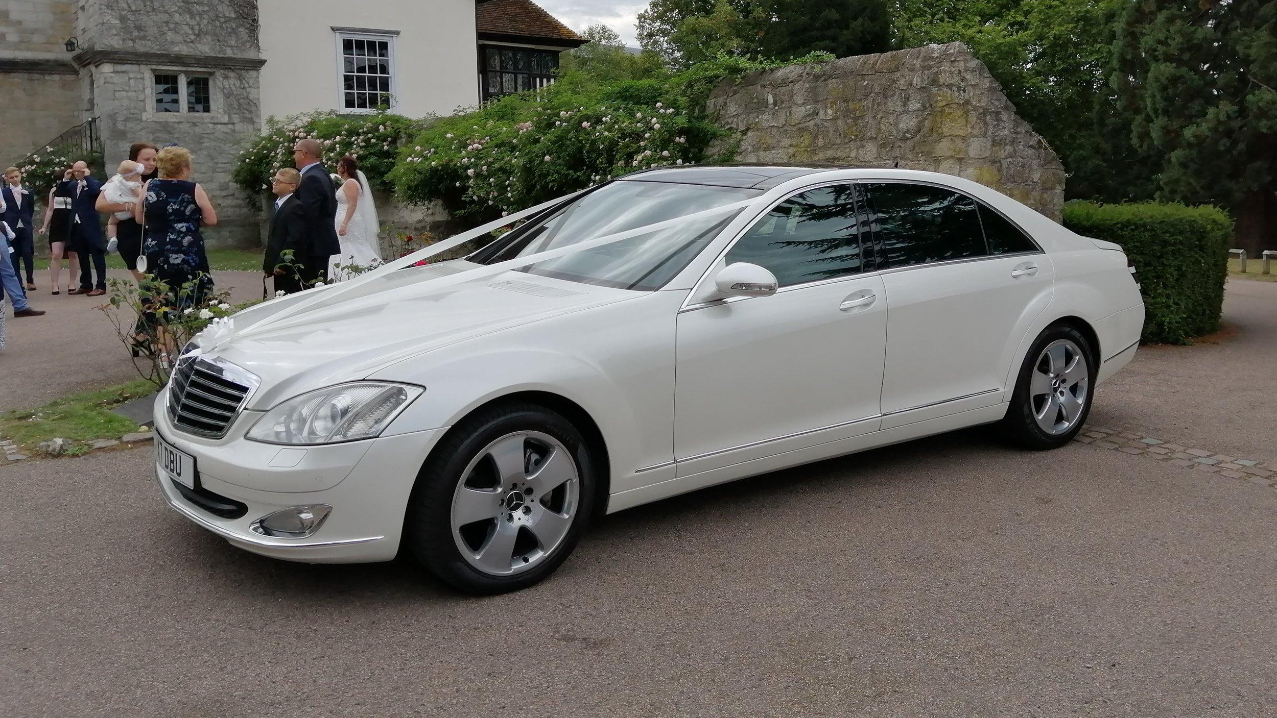 White Mercedes S Class Limousine  —-> Popular