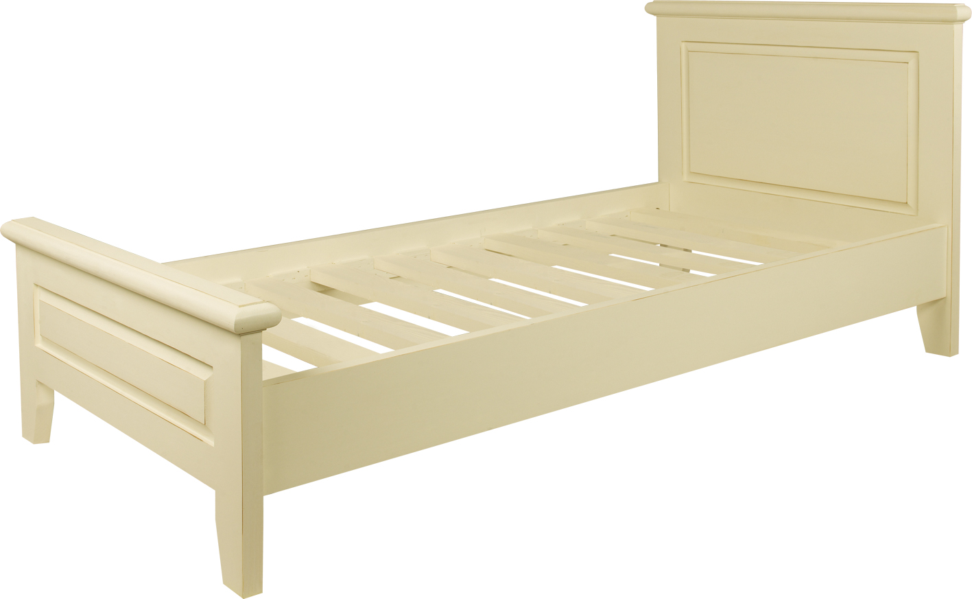 SINGLE BED   w 106 x d 34 x h 52 cm  Mattress Size: w 90 x l 200 cm  €815  Product Code: BL-3249  This piece may be orderedin any of the Heritage colours and finishes.