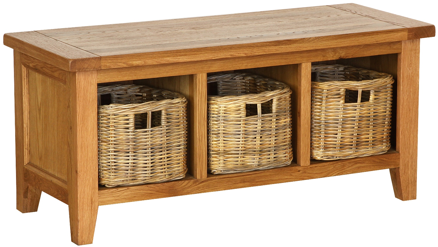 STORAGE BENCH WITH BASKETS  w 110 x d 45 x h 50 cm  € 654  Product Code: NB078