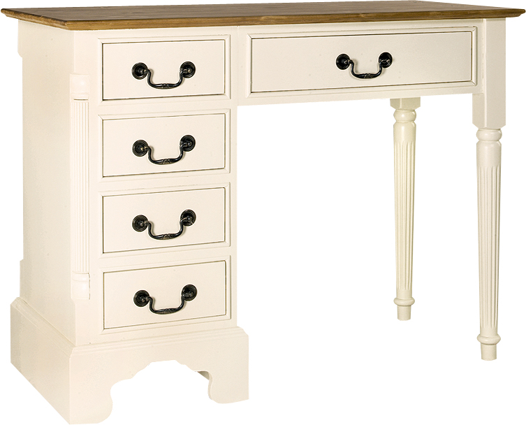 DRESSING TABLE/ DESK  w 105 x d 50 x h 80 cm  €612  Product Code: GL-2045  This piece may be orderedin any of the Heritage colours and finishes.