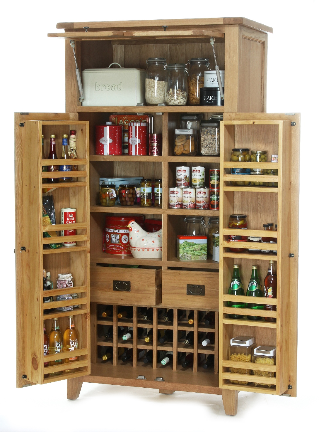 SMALL KITCHEN LARDER OPEN  w 100 x d 66 x h 200 cm  € 1,780 ( 40% off furniture in stock and 30% off furniture to be ordered until 21st Aug!! )  Product Code: NB097