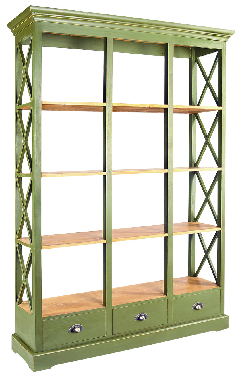 HERITAGE BASIC LINE LARGE BOOKCASE  w 140 x d 41 x h 200 cm  € 995 ( 30% OFF, NOW € 696.50 )  Product Code: BL-3174  This piece may be orderedin any of the Heritage colours and finishes.