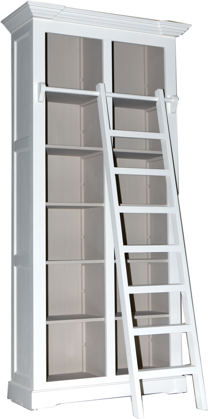 HERITAGE BASIC LINE NARROW BOOKCASE WITH LADDER  w 117 x d 45 x h 240 cm  € 1,841 ( 30% OFF, NOW € 1,288.70 )  Product Code: BL-3273  This piece may be orderedin any of the Heritage colours and finishes.