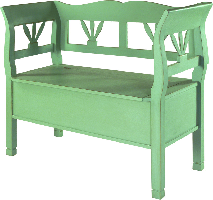 BENCH (WITH FLAP FOR UNDER SEAT STORAGE)  w 114 x d 45 x h 92 cm  €577 ( 30% Off NOW € 403.90, for a limited time only)  Product Code: TL-1021  This piece may be orderedin any of the Heritage colours and finishes.