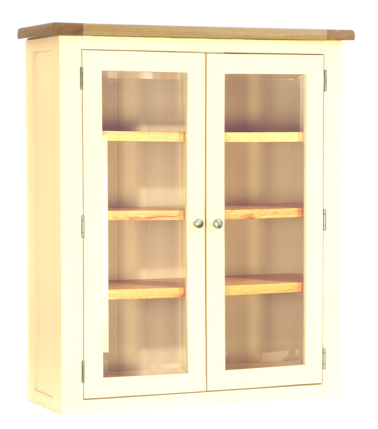 Glazed 2 Door Dresser Rack  Colour-Ivory  w 100 x d 35 x h 115 cm  € 580 ( 40% Off - NOW € 348 )  Product Code: CANB118H